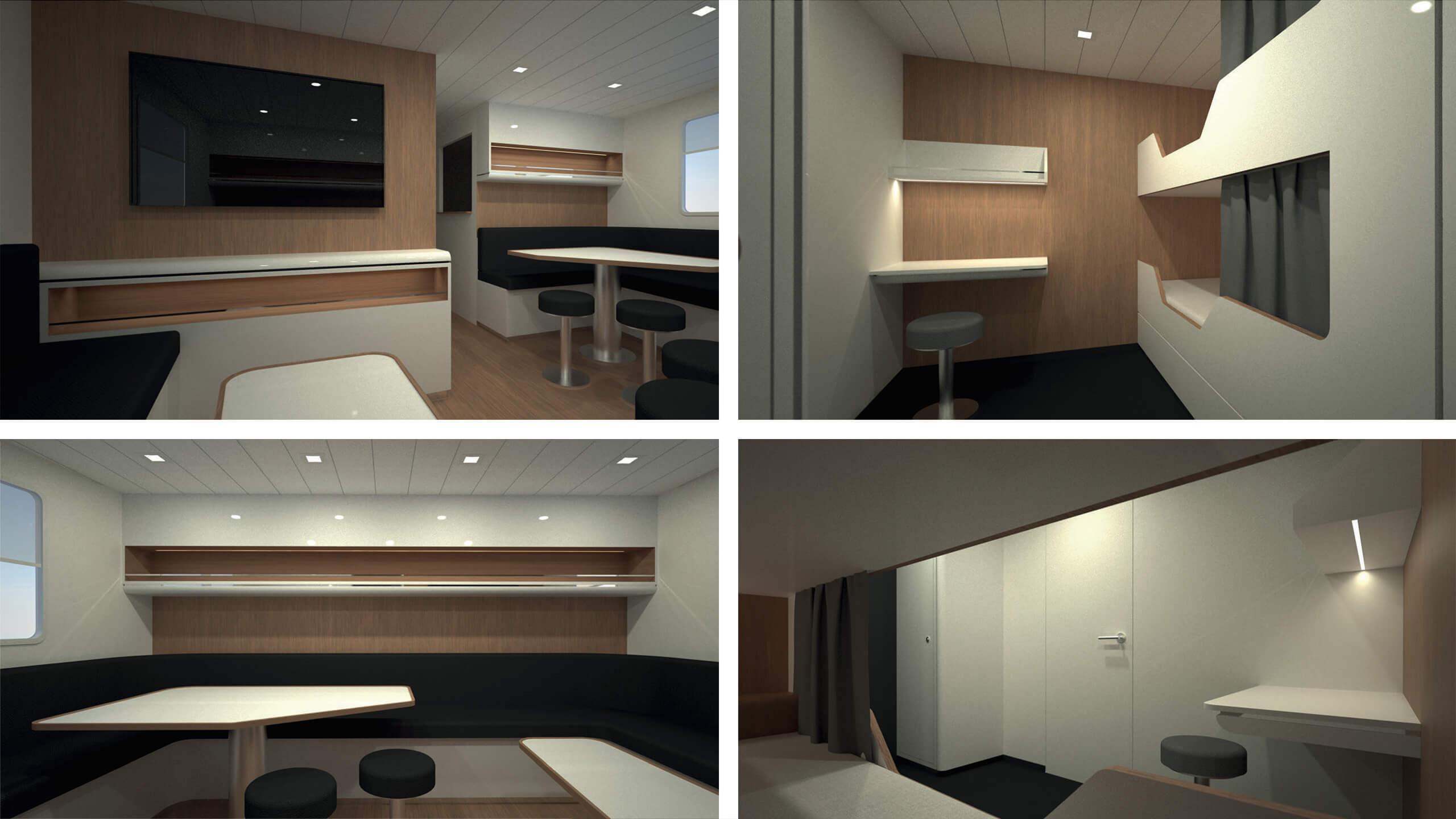 Interior design of 3200 OPV